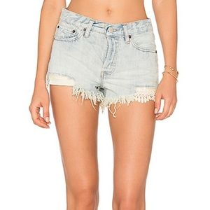 Free People | Daisy Chain Lace Light Wash Jeans